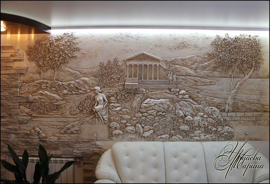 Барельефы картины на стенах дизайн цена